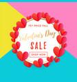 valentine sale banner or poster design template vector image vector image