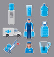 water delivery service stickers vector image vector image