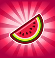 watermelon icon design vector image vector image