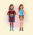 women cosplay style vector image vector image