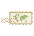 world stamp post vintage style vector image