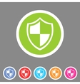 Shield icon flat web sign symbol logo label set vector image