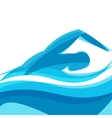 Background with abstract stylized swimming man vector image