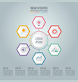 timeline infographic concept with 6 options vector image