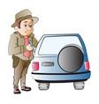 highway patrol vector image