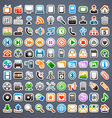 100 sticker icons vector image vector image