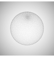 3D sphere of particles vector image vector image