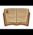 ancient open book with medieval letter font vector image vector image