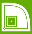 baseball field icon green vector image vector image