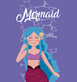 beautiful mermaid cartoons vector image vector image