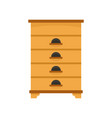 bee house icon flat style vector image vector image