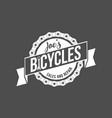 bicycle retro badge vector image vector image