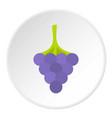black grape icon circle vector image vector image