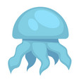 blue jelly fish vector image