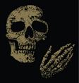 boney fingers vector image vector image