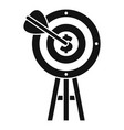 business target icon simple style vector image vector image