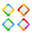 Buttons with arrows vector image vector image