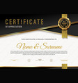 certificate template with guilloche pattern vector image vector image