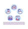 choosing training methods concept icon with text vector image vector image