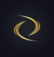 circle abstract wave gold logo vector image vector image