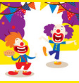 clowns for your party banner vector image vector image