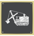 color flat heavy machine icon vector image vector image