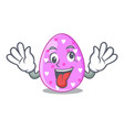 crazy color the easter eggs isolated mascot vector image