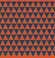 dark blue and orange triangles seamless pattern vector image vector image