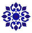 decorative floral round design vector image vector image