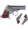 Derringer revolver vector image vector image