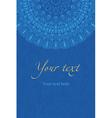 ethnic boho blue pattern mandala vector image