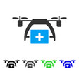 First aid drone flat icon