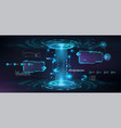 futuristic circle 3d lab with hud elements vector image vector image