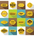 Golden labels icons set flat style vector image vector image