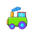 Green toy train icon cartoon style vector image vector image