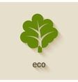 green tree eco symbol vector image vector image
