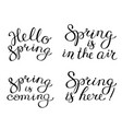 hand drawn spring lettering composition vector image vector image