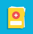 icon of the medical folder for documents for web vector image vector image