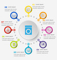 infographic template with laundry icons vector image vector image