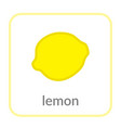 lemon icon yellow citrus outline flat sign vector image