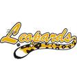 leopard logo mascot font vector image vector image