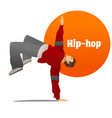 man dancing hip hop in cartoon style vector image vector image