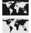 Map with imitation of transparent background vector image vector image