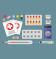 medicaments blisters syringe vector image