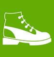 men oxfords icon green vector image vector image