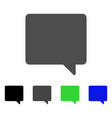 message flat icon vector image vector image