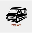 mini van outlined sketch isolated symbol micro vector image vector image