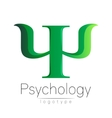 Modern logo of Psychology Psi Creative style vector image vector image