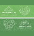 nature travel horizontal banner vector image vector image