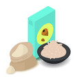 nut flour icon cartoon isometric 3d style vector image vector image